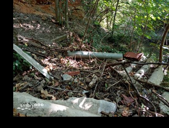Constatations de déchets en bords de rivières